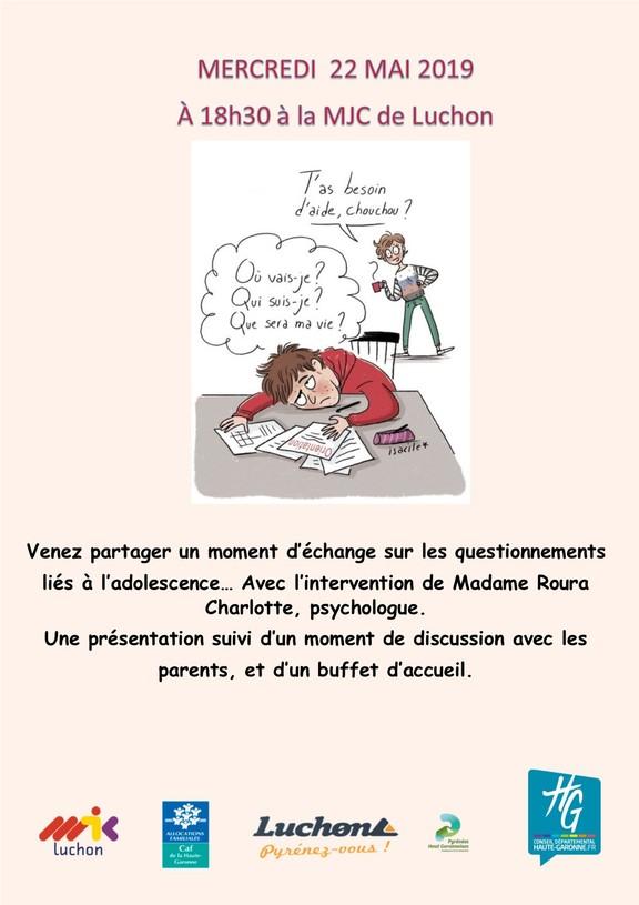 22 Mai Echange Autour Des Questions Lies A L Adolescence Pour Les